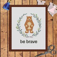 Be brave Cross Stitch charts-cross stitch pattern baby-cross stitch pattern…