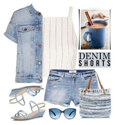 """""""The Final Cut: Denim Shorts"""" by rasa-j ❤ liked on Polyvore featuring Topshop, Current/Elliott, Talbots, New Look, jeanshorts, denimshorts and cutoffs"""
