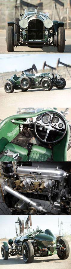 ベントレー Bentley 3 litre 1924年 水冷直列4気筒 OHC 2996cc 70ps/3500rpm 最高速度129㎞/h 1919年のロンドン・モーターショーでエンジン未搭載のまま発表された。エンジンが完成したのが1921年で、顧客に渡すまでに2年もかかっている。1929年まで造られ、総生産台数は1622台。 1気筒あたり4バルブでツイン・スパークの高性能車であり、John Duff と Frank Clement の運転により1924年のル・マン24時間レースにて見事優勝している。 あの Ettore Bugatti をして「世界一速いトラック」と言わしめたクルマであった。 このクルマは1919年から17歳で英国ケンブリッジ大学に留学していた白洲次郎が、大学のレーシングクラブに入会して乗り回していたものである。 祖父が兵庫県知事、父が綿の貿易で巨万の富を得た実業家で、白洲次郎が渡英した先への仕送りが月1万円。いまの貨幣価値に換算すると数千万円にもなる。