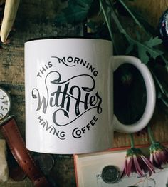 This Morning With Her Having Coffee Mug by Vicarel Studios on Scoutmob