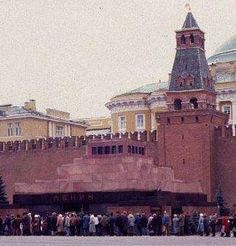 Not very restful looking...Lenin's Mausoleum in Moscow