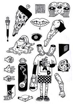 Tattoo Sketches, Tattoo Drawings, Art Drawings, Pencil Drawings, Kritzelei Tattoo, Body Art Tattoos, Pig Tattoos, Tatoo Inspiration, Tattoo Flash Art