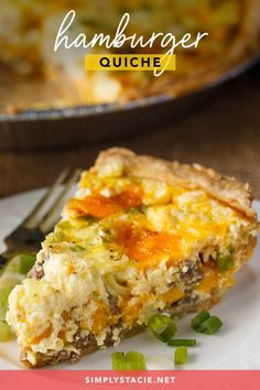 Hamburger Quiche - Creamy, cheesy and so delicious! This easy brunch recipe is made with a secret ingredient you might not expect to find.