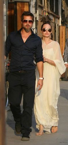 Brad Pitt & Angelina Jolie during a visit to Syria