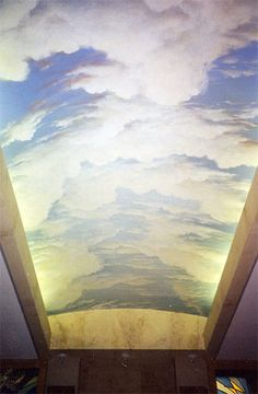 Ceiling mural. Cloud mural. Mural created by Murals By Renick ...