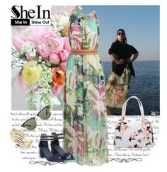 """""""Shein.com 7/9"""" by fashionb-784 ❤ liked on Polyvore featuring Ray-Ban and shein"""