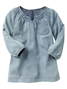 Little denim smock dress // gap