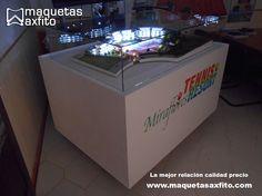 Proyecto maqueta física  escala 1:150 detalle + iluminación  www.maquetasaxfito.com