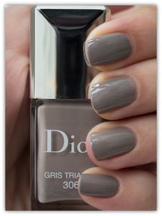 "Dior ""Gris Trianon"" – beautiful muted shade for Spring Dior Nail Polish, Dior Nails, Love Nails, Pretty Nails, Mani Pedi, Manicure, Dark Red Nails, Sally Hansen Nails, Unique Makeup"