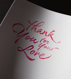 Thank you for your love #love #thankyou #quote Salamat new font by Sudtipos  http://www.myfonts.com/fonts/sudtipos/salamat/