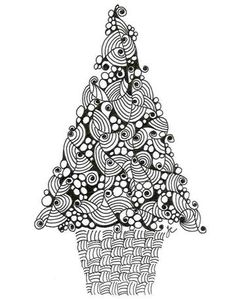 Christmas tree - zentangle/doodle http://archive.constantcontact.com/fs023/1101168872594/archive/1102858373569.html