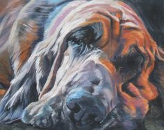 Bloodhound dog portrait Fine Art Dog Painting by L.Shepard Throw Pillow by LA Shepard Dog Artist - Cover x with pill Dachshund, Bloodhound Puppies, Dog Artist, Shetland Sheepdog, Dog Paintings, Dog Tattoos, Dog Portraits, Canvas Art Prints, Dog Cat