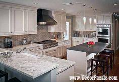 River white Granite countertops, white granite worktops, white traditional kitchen