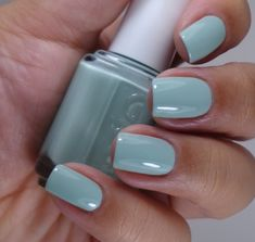 Essie Hide & Go Chic collection: Spring 2014 - Fashion Playground- This looks so much brighter on my nails Essie Nail Colors, Essie Nail Polish, Uv Gel Nails, Nail Polish Colors, Polish Nails, Glitter Nails, Gorgeous Nails, Love Nails, How To Do Nails