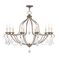 Livex Lighting Chesterfield 10 Light Chandelier in Venetian Golden Bronze 6430-71
