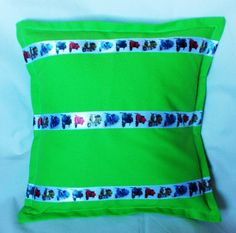 Lime Green, Scooter Cushion, pillow Cover, Scooters fans gift, Home Decor, Sofa items, Bike fans, Ribbon Decoration, Hand made gifts, bright