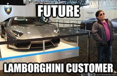 future lamborghini customer - fits the stereotype exactly! This kid was born to buy a lambo