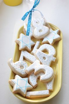 Chanukah Eight Days Number Cookies For Each Day