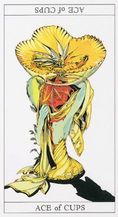 Love and Mystery Tarot by Yoshitaka Amano: Ace of Cups