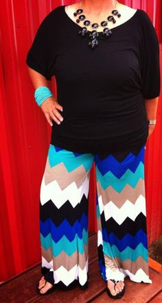Cheap plus size chevron pants