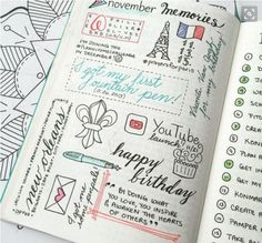 Back again with section 4 of our 101 Bullet Journal Page Ideas. This segment is all about inspirational bullet journal pages and dump pages. Bullet Journal Inspo, Bullet Journal Page, Bullet Journals, Journal Layout, My Journal, Journal Pages, Journal Design, Memory Journal, Filofax