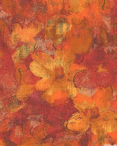 Carnival, Floral Whispers, Burnt Orange Jinny Beyer for RJR Fabrics Blood Orange, Burnt Orange, Orange Paper, Pattern Designs, Fabric Online, Carnival, Fabrics, Quilts, Cream