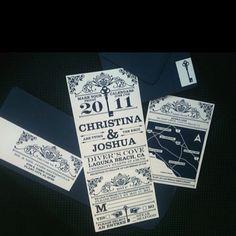 #wedding invitations by Jamie Konet on Etsy.com navy wedding bride groom RSVP vintage key fun writing font white simple love