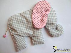 Baby Kirschkernkissen Wärmekissen Elefant, Körner Baby Elefant, Doll Toys, Dolls, Nursery Patterns, Elephant Art, Sewing Pillows, Toy Craft, Security Blanket, Baby Kind