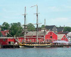 HMS Rose at Lunenburg, Nova Scotia Cape Breton, O Canada, New Brunswick, Nova Scotia, Travel Usa, Sailing Ships, Lighthouse, Scenery, Popular