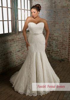 2013 New Plus Size Lace Mermaid White Ivory Wedding Dress Nuptial Dress | eBay