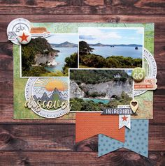 Discover with Cocoa Vanilla Studio Legendary by Fiona Johnstone (All About Scrapbooks Australia) Scrapbook Designs, Scrapbook Page Layouts, Scrapbook Pages, Scrapbooking Ideas, Picture Layouts, Travel Scrapbook, Layout Inspiration, My Favorite Part, Australia Travel