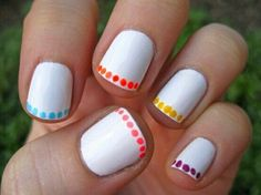 Use a bobby pin for the dots and voila!