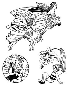 from Fairies,  Elves, and Gnomes CD-ROM and Book by Dover Publications