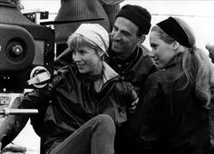 Ingmar Bergman with Bibi Andersson and Liv Ullmann - Persona