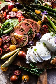 Lower Excess Fat Rooster Recipes That Basically Prime Panzanella Style Caprese Asparagus Salad Hbharvest Antipasto, Salade Caprese, Asparagus Salad, Grilled Asparagus, Half Baked Harvest, Cooking Recipes, Healthy Recipes, Soup And Salad, Food Inspiration