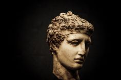 (via goldfishies) Head of an ancient Greek statue