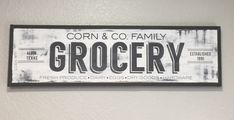 Custom Kitchen Sign, Family Name Sign, Grocery Sign, Farmhouse Sign, Fixer Upper, Farmhouse Decor, Custom Wood Sign, Personalized Sign by 2TreesStudios on Etsy https://www.etsy.com/listing/514167503/custom-kitchen-sign-family-name-sign