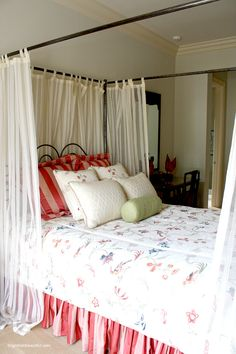 Make your guests feel welcome. Beautiful guest bedroom inspiration.