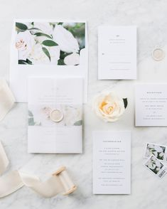 The Aurora Floral invitation suite from Shine Wedding