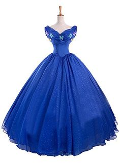 Ace Deluxe Adult Womens Cinderella Princess Costumes Dress Custommade L ** Be sure to check out this awesome product.