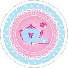 Toppers Chá de Casa Nova, Chá de Panela para Impressão Azul e Rosa Decoupage, Craft Gifts, Gift Bags, Tea Party, Printables, Invitations, Templates, Kitchen, Prints