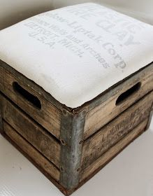 Milk Crate Ottoman. would be awesome DYI. project.
