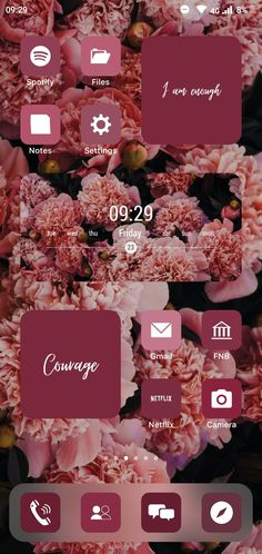 Maroon Aesthetic ios14 Homescreen Page 2