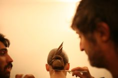 Backstage at Gucci RTW Spring 2013