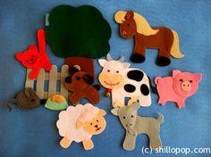 Развивающие игрушки от Shill O'POP » Домашние животные. Felt animals