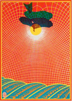 Poster by Robert Fried, Sept. 1967, Charlatans, Avalon Ballroom, SF.