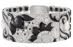 Van Cleef and Arpels Bracelet from the line Le Bal Black & White, onyx, diamonds, platinum