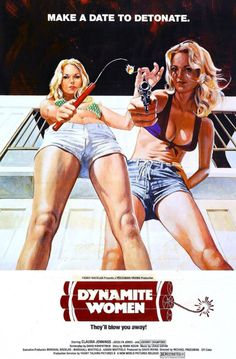 Dynamite Girls Vintage Drive-In Movie Poster by FoxgloveMedia Best Movie Posters, Cinema Posters, Cool Posters, Music Posters, Pulp Fiction, Vintage Movies, Vintage Posters, Vintage Tv, Vintage Artwork