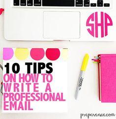 Tips for writing a professional email (via Bloglovin.com )