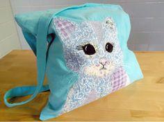 cat, kitten, cat bag, tote, shoulder bag, gift, Birthday gift £14.00